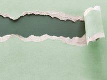papper rev sönder Arkivbild