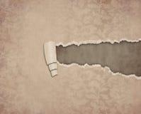 papper riven sönder tappning Fotografering för Bildbyråer