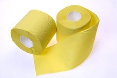 papper rullar toalett två Royaltyfri Fotografi