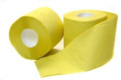 papper rullar toalett två Fotografering för Bildbyråer