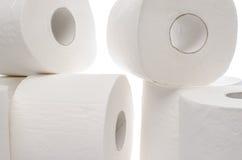 papper rullar toaletten Fotografering för Bildbyråer