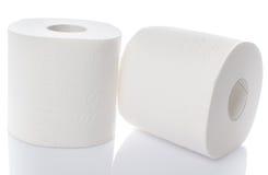papper rullar toaletten Arkivfoton