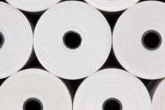 papper rullar white Royaltyfri Bild