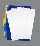 Papperen och mappar Arkivfoto
