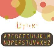 Pappers- alfabet Royaltyfri Foto