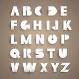 Pappers- alfabet Vektor Illustrationer