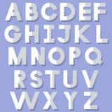 Pappers- alfabet Arkivfoto