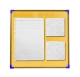 Pappers- anmärkning ombord Arkivbild