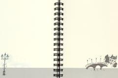 Pappers- anteckningsbok Arkivbilder