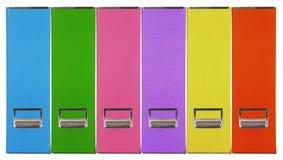 Pappers- ask för åtskilligt färgtidskriftkorn Royaltyfria Bilder