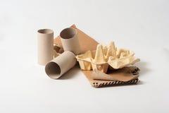Pappers- avfalls Arkivfoton