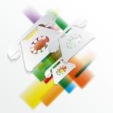 pappers- bakgrund vektor illustrationer