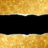 Pappers- bakgrund för guld Royaltyfri Fotografi