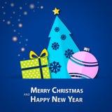 Pappers- bakgrund för julgran - illustration Royaltyfri Fotografi