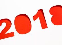 Pappers- bakgrund för nytt år 2018 Arkivfoton