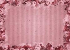 Pappers- bakgrund för rosa färger i akvarellram stock illustrationer