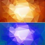 Pappers- bakgrunder 02 för polygon Royaltyfri Bild
