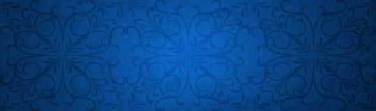 Pappers- baner för blå gammal tappningjul Royaltyfri Fotografi