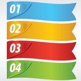 Pappers- baner med numrerat. Royaltyfria Bilder