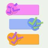 Pappers- banerlägenhetdesign Arkivbild