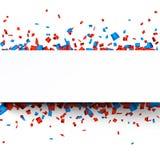 Pappers- berömbaner för konfettier Arkivfoton
