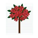 Pappers- blommor för abstrakt begrepp Vårkort - illustration Royaltyfri Bild
