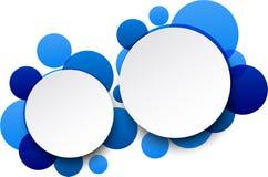 Pappers- bubblor för vitrundaanförande. Royaltyfria Foton