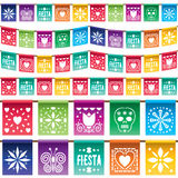 Pappers- bunting för mexikan Royaltyfri Fotografi