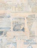 Pappers- collage för Grungy antik tidning royaltyfria bilder