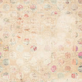 Pappers- collagebakgrund för Grunge Arkivbild