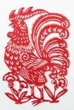 Kina rött pappers- klipp Arkivbild