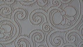 Pappers- dekorativ bakgrundstapet på väggen Royaltyfria Foton