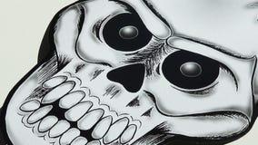 Pappers- dekorativt teckningsallhelgonaaftonskelett stock illustrationer