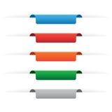 Pappers- etikettsetiketter Arkivfoto