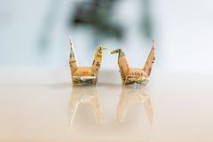 Pappers- fågel royaltyfri fotografi