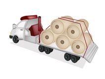 Pappers- för päfyllning för Flatbed för traktorsläp ett jätte- maler Royaltyfria Foton