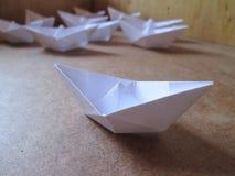 Pappers- fartyg Royaltyfria Bilder