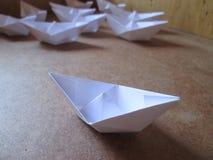 Pappers- fartyg Royaltyfri Foto