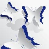 Pappers- fjäril royaltyfri illustrationer