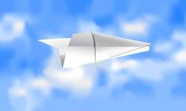 Pappers- flygplan Arkivbild