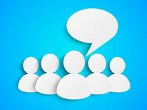Pappers- folk med anförandebubblan Arkivbild