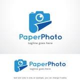 Pappers- foto Logo Template Design Vector, emblem, designbegrepp, idérikt symbol, symbol Royaltyfri Bild