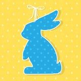 Pappers- garnering för påsk i form av kanin kanin easter Arkivbild