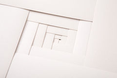 Pappers- geometrisk sammansättning, abstrakt bakgrund Royaltyfri Foto