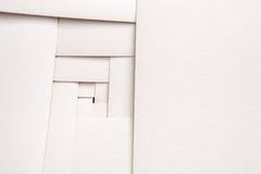 Pappers- geometrisk sammansättning, abstrakt bakgrund Arkivbild