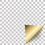 Pappers- hörnpeel Tomt ark av den vikta klibbiga pappers- anmärkningen Arkivbild