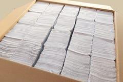 Pappers- handdukar Arkivbild