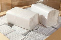 Pappers- handdukar Arkivbilder