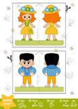 Pappers- hantverk för utbildning för barn, pojke och flicka royaltyfri illustrationer