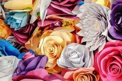 Pappers- hantverk för rosor Royaltyfri Fotografi